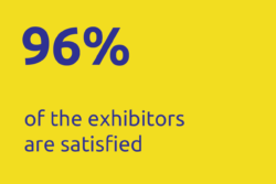96% of exhibitors are satisfied