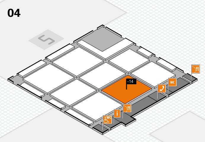 CARAVAN SALON 2016 hall map (Hall 4): stand -14