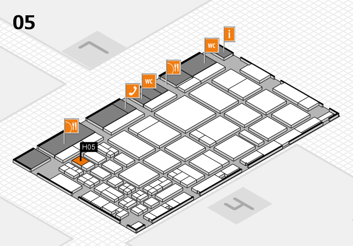 CARAVAN SALON 2016 hall map (Hall 5): stand H05