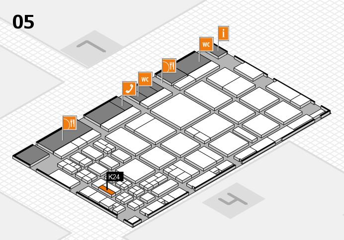 CARAVAN SALON 2016 hall map (Hall 5): stand K24