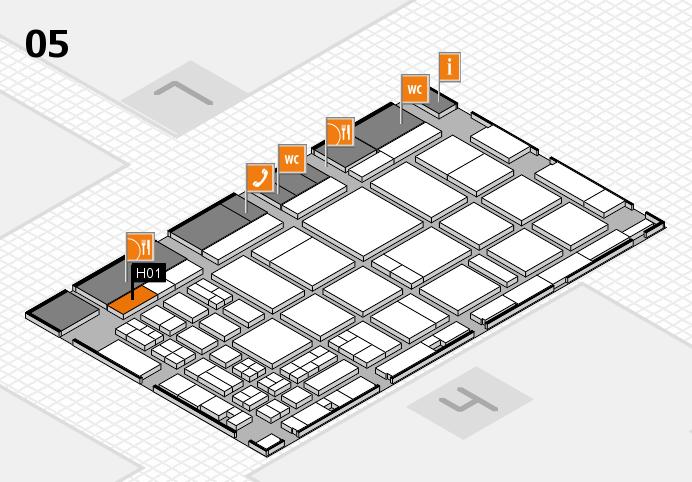 CARAVAN SALON 2016 hall map (Hall 5): stand H01