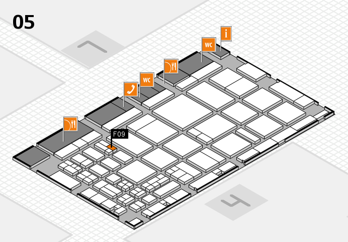 CARAVAN SALON 2016 hall map (Hall 5): stand F09