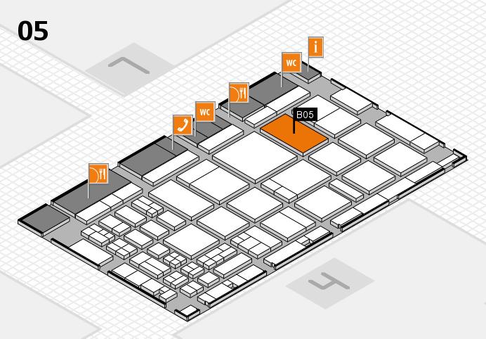 CARAVAN SALON 2016 hall map (Hall 5): stand B05
