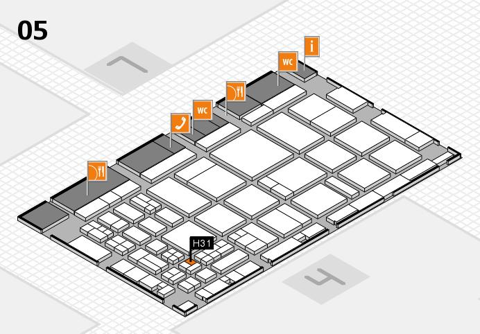 CARAVAN SALON 2016 hall map (Hall 5): stand H31
