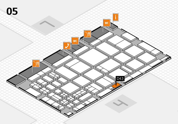 CARAVAN SALON 2016 Hallenplan (Halle 5): Stand D43