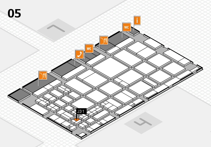 CARAVAN SALON 2016 hall map (Hall 5): stand J31
