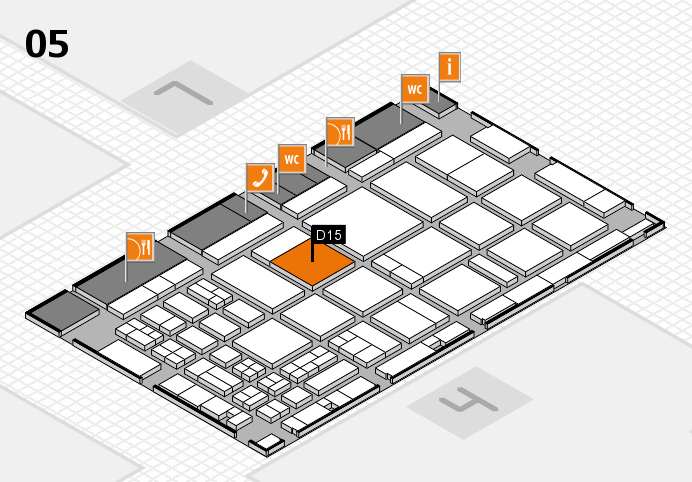 CARAVAN SALON 2016 hall map (Hall 5): stand D15