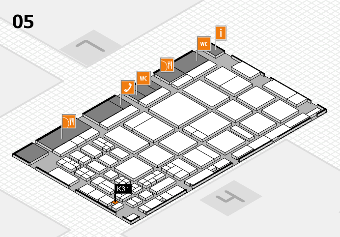 CARAVAN SALON 2016 hall map (Hall 5): stand K31