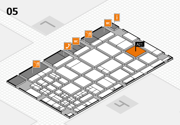CARAVAN SALON 2016 hall map (Hall 5): stand A21