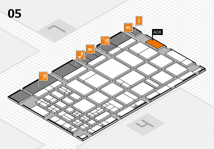 CARAVAN SALON 2016 hall map (Hall 5): stand A08