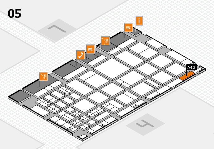 CARAVAN SALON 2016 hall map (Hall 5): stand A43