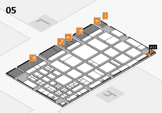 CARAVAN SALON 2016 hall map (Hall 5): stand A33