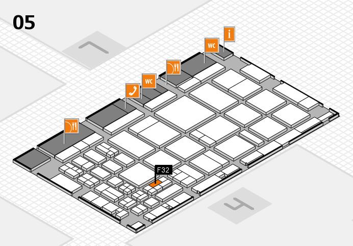 CARAVAN SALON 2016 hall map (Hall 5): stand F32