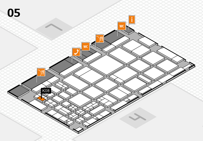 CARAVAN SALON 2016 hall map (Hall 5): stand K08