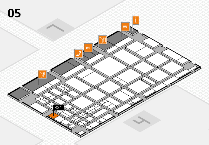 CARAVAN SALON 2016 hall map (Hall 5): stand K21