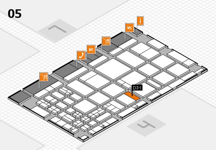 CARAVAN SALON 2016 Hallenplan (Halle 5): Stand D31