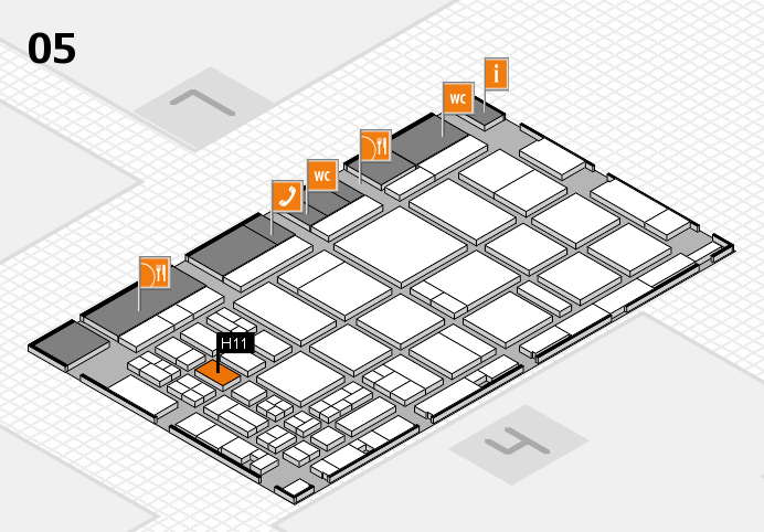 CARAVAN SALON 2016 hall map (Hall 5): stand H11