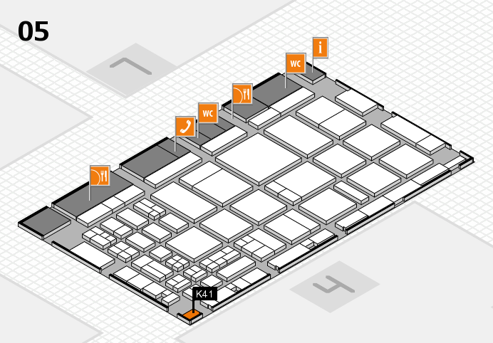 CARAVAN SALON 2016 hall map (Hall 5): stand K41
