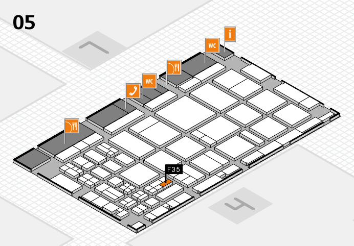 CARAVAN SALON 2016 hall map (Hall 5): stand F35
