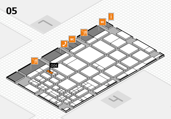 CARAVAN SALON 2016 hall map (Hall 5): stand G04