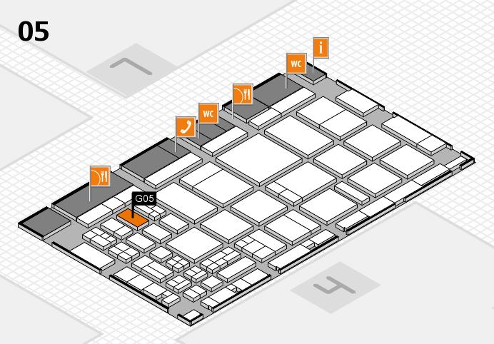 CARAVAN SALON 2016 hall map (Hall 5): stand G05
