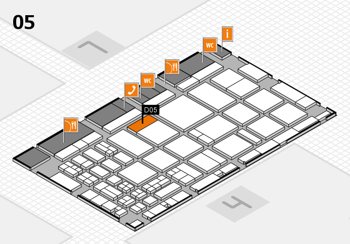 CARAVAN SALON 2016 hall map (Hall 5): stand D05