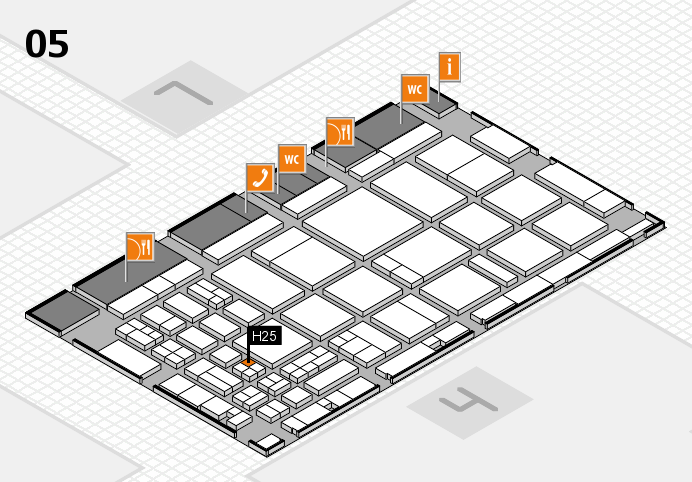 CARAVAN SALON 2016 hall map (Hall 5): stand H25