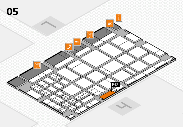 CARAVAN SALON 2016 hall map (Hall 5): stand F42