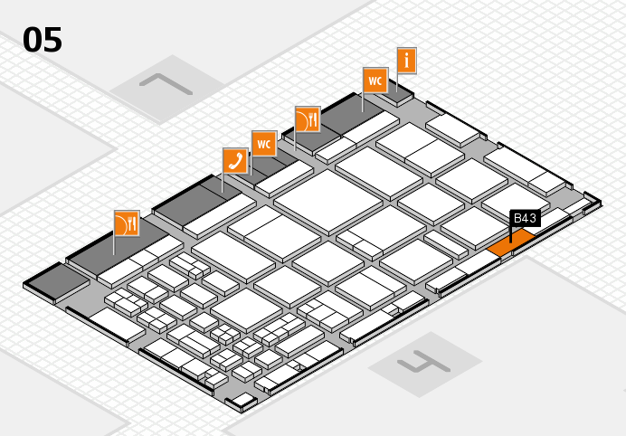 CARAVAN SALON 2016 hall map (Hall 5): stand B43