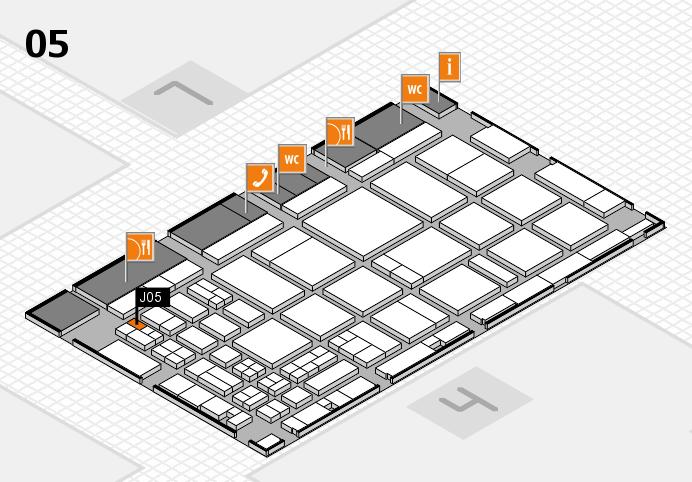 CARAVAN SALON 2016 hall map (Hall 5): stand J05