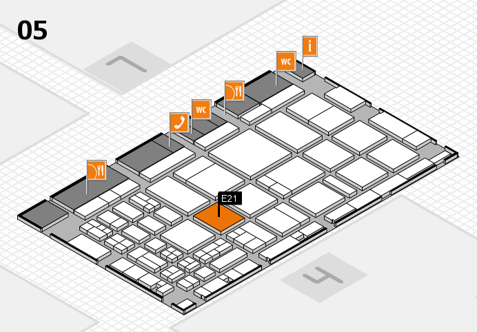 CARAVAN SALON 2016 hall map (Hall 5): stand E21