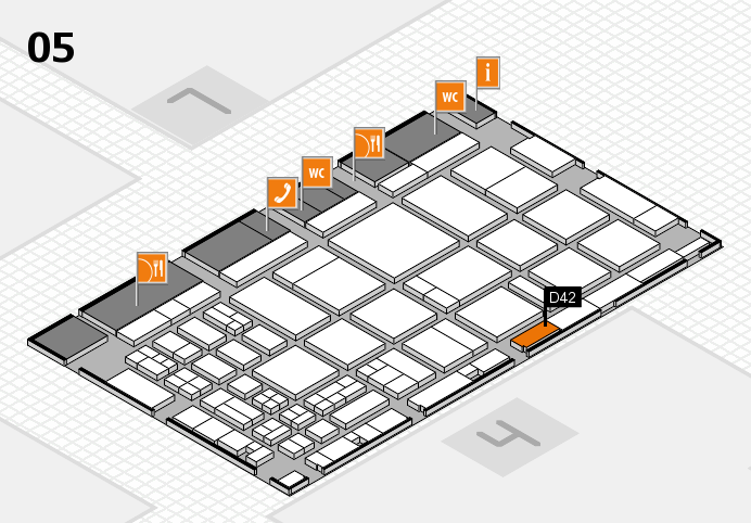 CARAVAN SALON 2016 hall map (Hall 5): stand D42