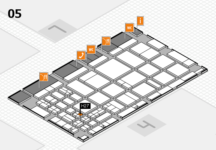CARAVAN SALON 2016 hall map (Hall 5): stand H27