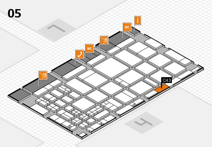 CARAVAN SALON 2016 hall map (Hall 5): stand C43