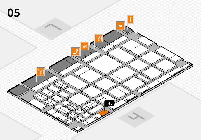 CARAVAN SALON 2016 Hallenplan (Halle 5): Stand F43
