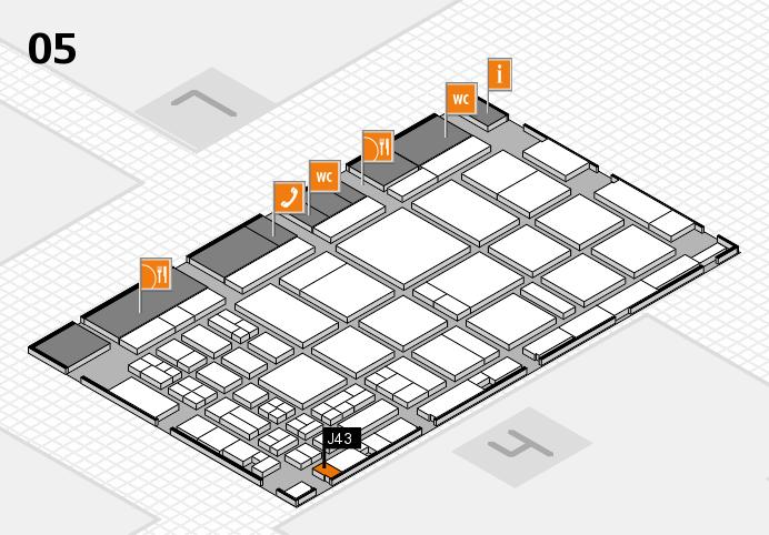 CARAVAN SALON 2016 hall map (Hall 5): stand J43