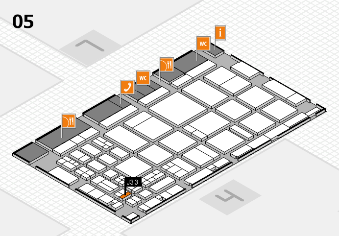 CARAVAN SALON 2016 hall map (Hall 5): stand J33
