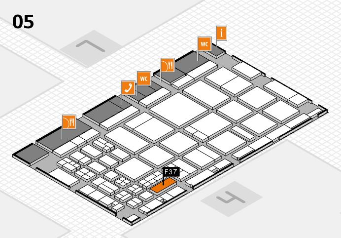 CARAVAN SALON 2016 hall map (Hall 5): stand F37