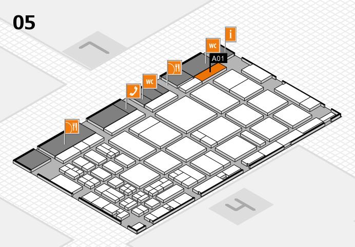 CARAVAN SALON 2016 hall map (Hall 5): stand A01
