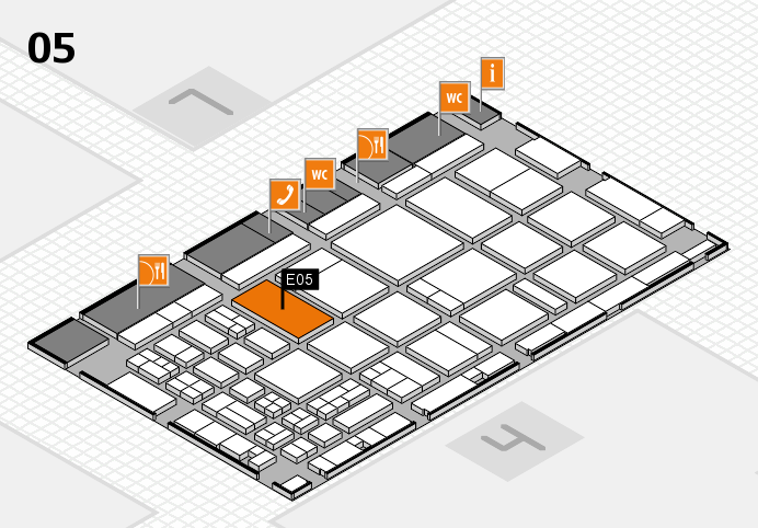CARAVAN SALON 2016 hall map (Hall 5): stand E05