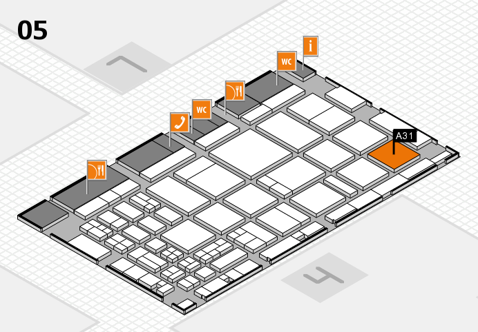 CARAVAN SALON 2016 hall map (Hall 5): stand A31