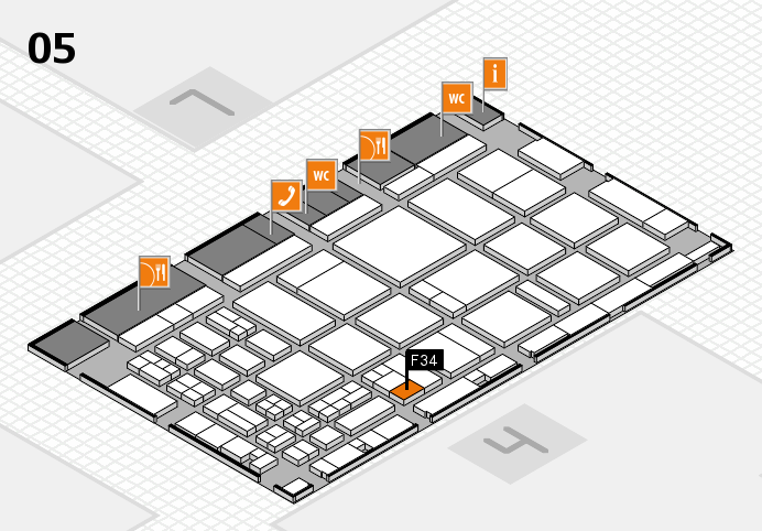 CARAVAN SALON 2016 hall map (Hall 5): stand F34