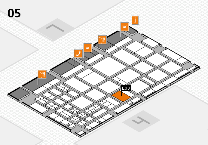 CARAVAN SALON 2016 hall map (Hall 5): stand E30