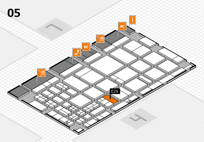 CARAVAN SALON 2016 hall map (Hall 5): stand E29