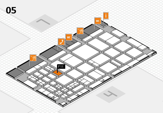 CARAVAN SALON 2016 hall map (Hall 5): stand F11