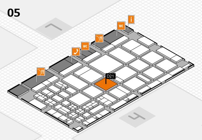 CARAVAN SALON 2016 hall map (Hall 5): stand D21