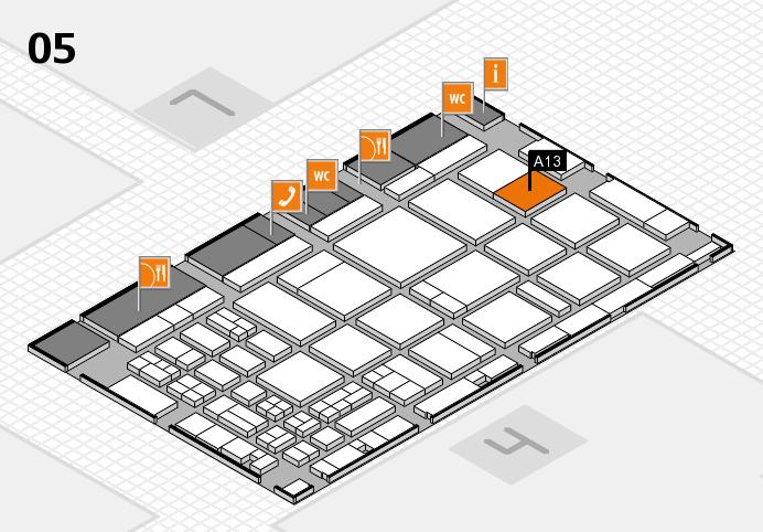 CARAVAN SALON 2016 hall map (Hall 5): stand A13