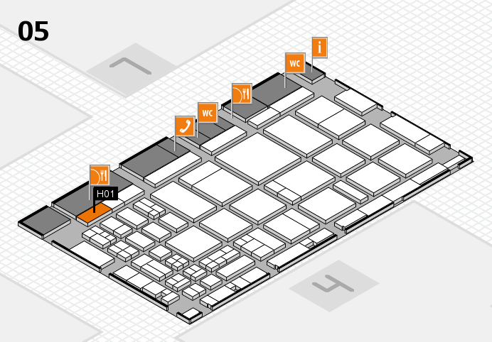 CARAVAN SALON 2016 hall map (Hall 5): stand H01