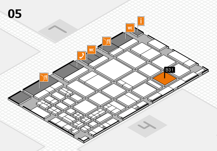 CARAVAN SALON 2016 hall map (Hall 5): stand B31