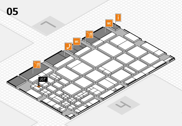 CARAVAN SALON 2016 hall map (Hall 5): stand J07